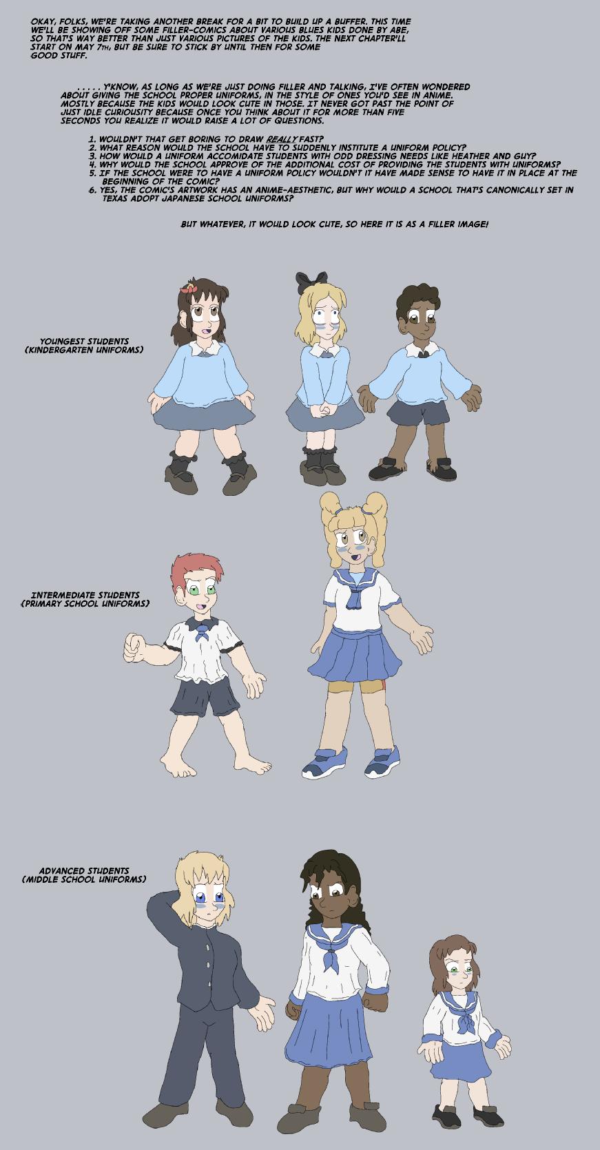 True Blue Filler: Blue Uniforms
